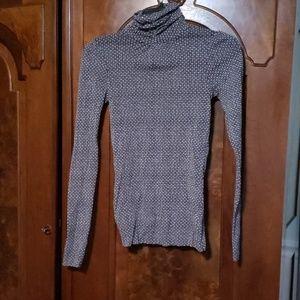 United colors of benneton  mock neck sheer shirt